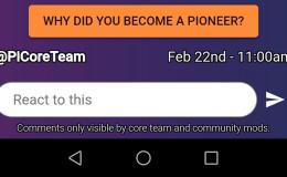 pi币官方发公告调研:你成为先锋的主要原因是什么?